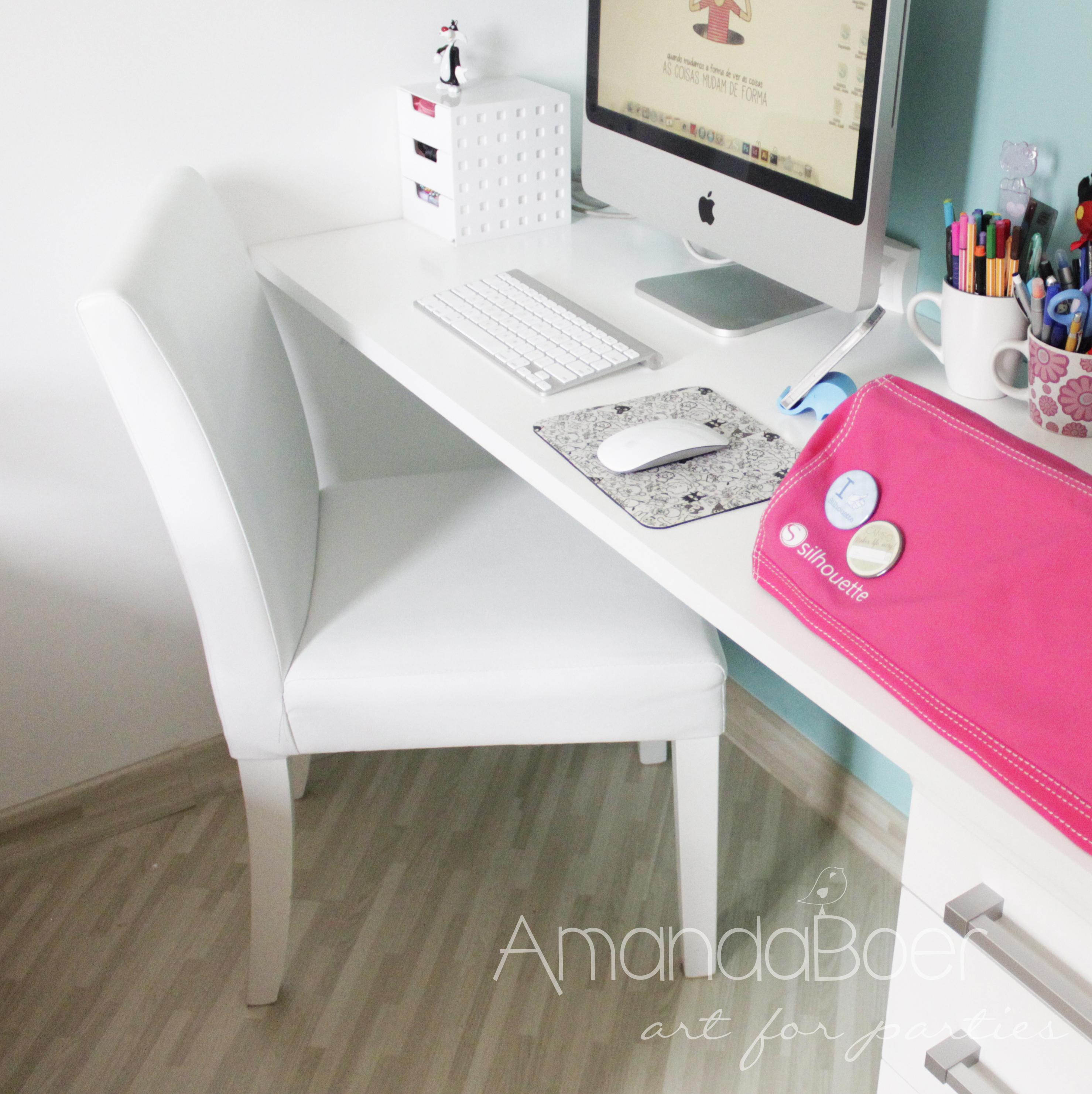 Home Office Estúdio de Criação Amanda Boer Art for Parties #B01B52 2957x2964