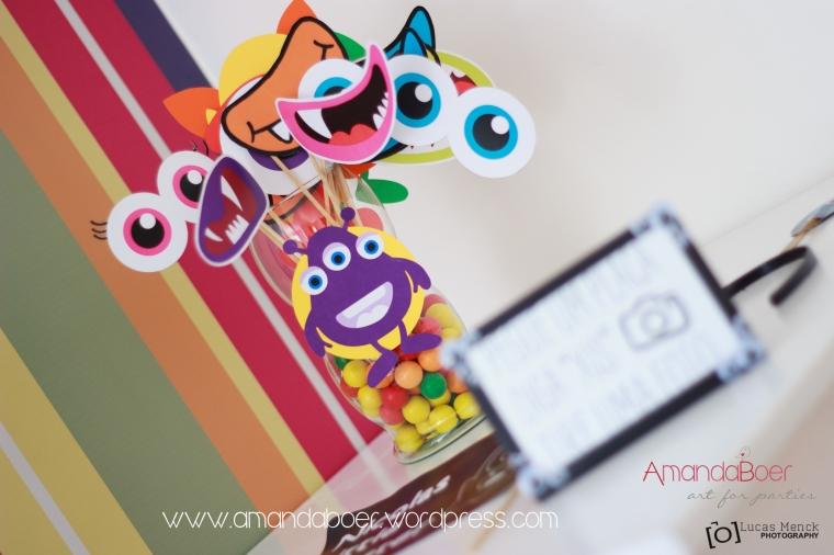 Plaquinhas para Photobooth, olhos e bocas de monstros